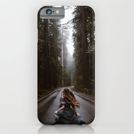 Redwoods National Park Road iPhone Case