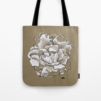 peony Tote Bags featuring Peony by Mich Li