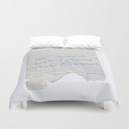 We Should Just Totally Stab Caesar! quote from the movie Mean Girls Duvet Cover