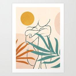 Minimal Line in Nature I Art Print