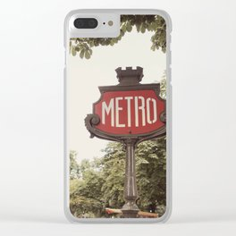A Metro In Paris Clear iPhone Case