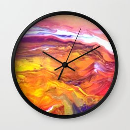 Red Hot Desert Wall Clock