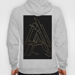 Gold Armor Letter A Hoody