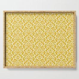 Art Nouveau Pattern Mustard Yellow Serving Tray