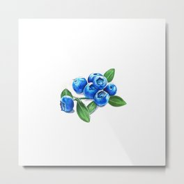 Bunch o' Blueberries Metal Print