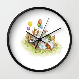 Birthday Party Picnic Wall Clock