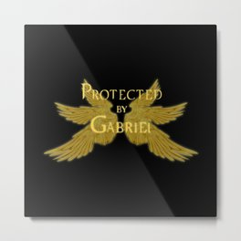Protected by Gabriel Metal Print