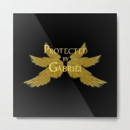 Protected by Gabriel Metal Print