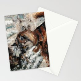 Sable marten hunting by dogs  Stationery Cards