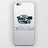 nfl iPhone & iPod Skins featuring Seattle Ewoks - NFL by Steven Klock