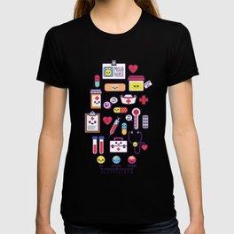 Proud To Be a Nurse Pattern / Purple T-shirt