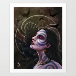 The Morrigan Art Print