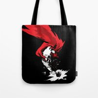 thor Tote Bags featuring Thor by Irene Flores