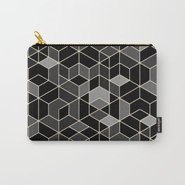 Black geometry / hexagon pattern Carry-All Pouch