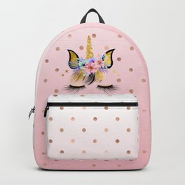 Floral Unicorn  Backpack