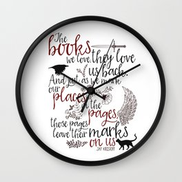 Those Pages Leave Their Mark Wall Clock