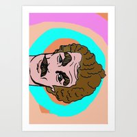 tom selleck Art Prints featuring Tom Selleck by Mary Naylor