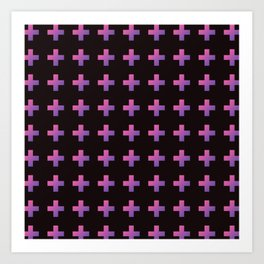 Pastel Cross Art Print