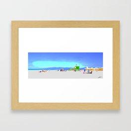 Summer Malibu beach Framed Art Print