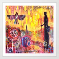 'Waiting For Woden' Art Print