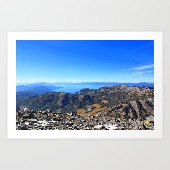 The Top of Tahoe Art Print