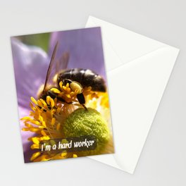 hard worker Stationery Cards