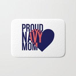 Proud Navy Mom Bath Mat