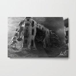 War Torn City V1 Metal Print