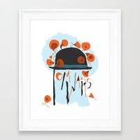tom waits Framed Art Prints featuring Tom Waits by Laura Shaffer