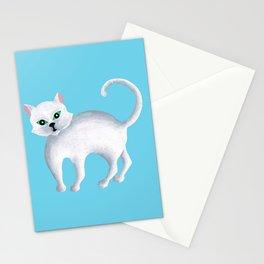 Maddie, White Kitten Stationery Cards