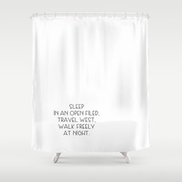 Travel west Shower Curtain