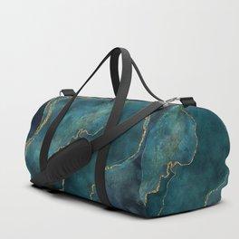 Golden Gemstone Glamour Mineral Duffle Bag