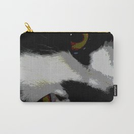 Black white cat Carry-All Pouch