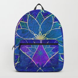Lotus 2 - blue and purple Backpack