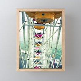 Fun above the sea Framed Mini Art Print
