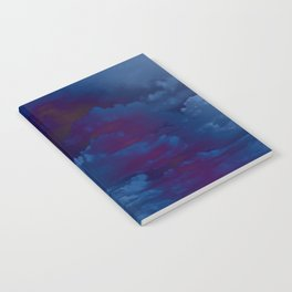Clouds in a Stormy Blue Midnight Sky Notebook