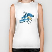 monster hunter Biker Tanks featuring Monster Hunter All Stars - Blue Rippers by Bleached ink