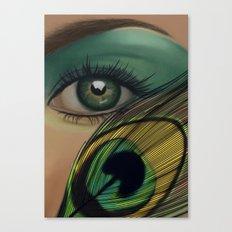 Through The Eye Of A Peacock Canvas Print