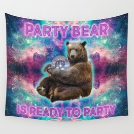 Partybear Wall Tapestry