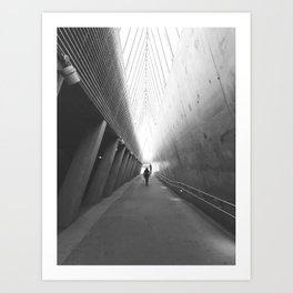 Tunnel of light Art Print