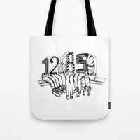 numbers Tote Bags featuring Numbers by Ilya kutoboy