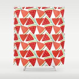Sliced Watermelon Shower Curtain