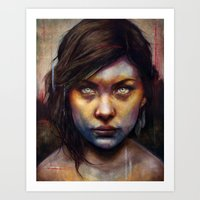 woman Art Prints featuring Una by Michael Shapcott