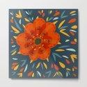 Decorative Whimsical Orange Flower by borianagiormova