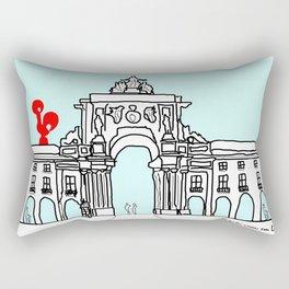 O galo voou em Lisboa! Rectangular Pillow