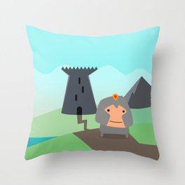 Shining Knights - The Warrior Throw Pillow