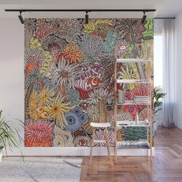 Clown fish and Sea anemones Wall Mural