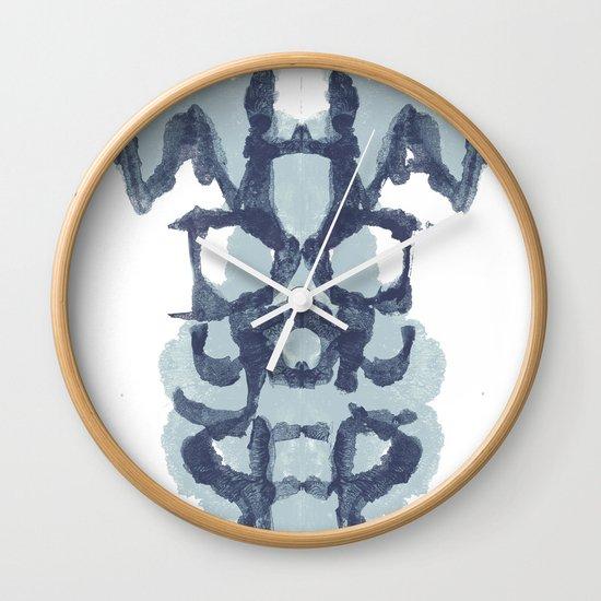 Typography Psychology Wall Clock