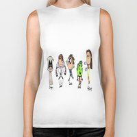 teen titans Biker Tanks featuring one direction as the teen titans by Muggle Merch