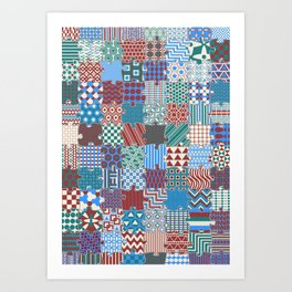 Pattern Patchwork Puzzle Art Print